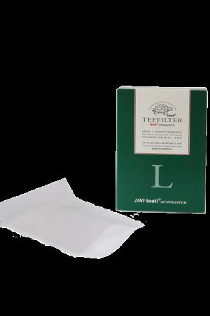 Papierteefilter Teeli Netz L - chlorfrei - weiss