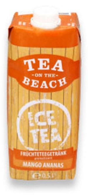 Früchteteegetränk TEA ON THE BEACH - Mango Ananas 500 ml