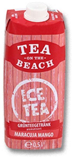 Grünteegetränk TEA ON THE BEACH - Maracuja Mango 500 ml