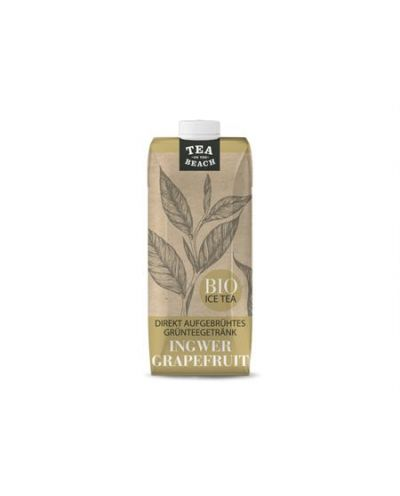 BIO Grünteegetränk TEA ON THE BEACH - Ingwer Grapefruit 500ml